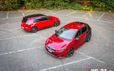 DUEL VW GOLF GTI CLUBSPORT vs PEUGEOT 308 GTi
