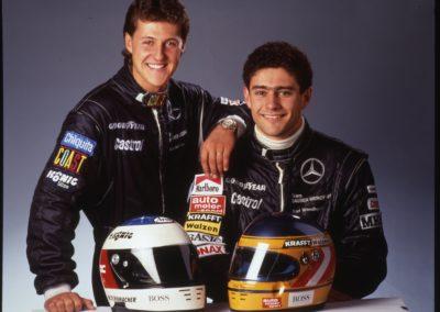 06-Michael Schumacher chez Sauber-Mercedes avec Karl Wendlingen@Photo Mercedes